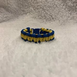 Handmade Blue and Gold Paracord Bracelet
